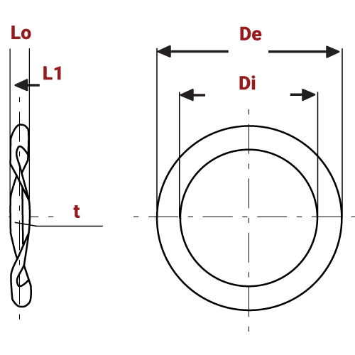 Wave Spring Washers For Loading Ball Bearings and other purposes diagram